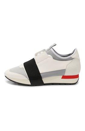 Комбинированные кроссовки Race Balenciaga белые | Фото №3