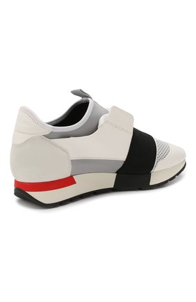 Комбинированные кроссовки Race Balenciaga белые | Фото №4