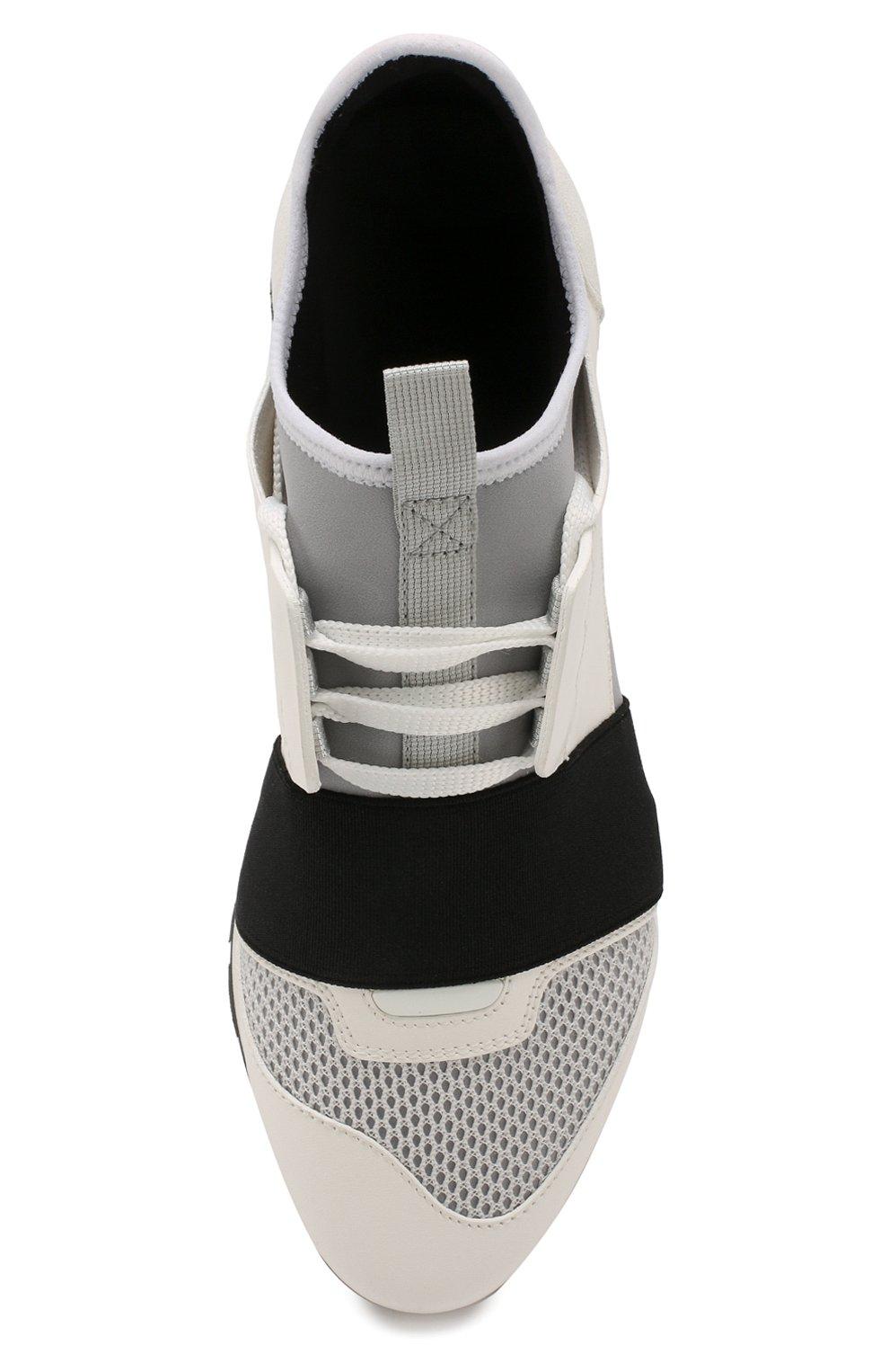 Комбинированные кроссовки Race Balenciaga белые | Фото №5