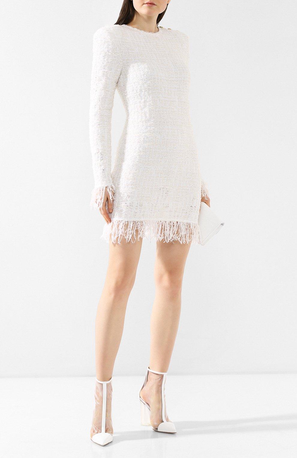 Прозрачные ботильоны Fergie Le Silla белые | Фото №2