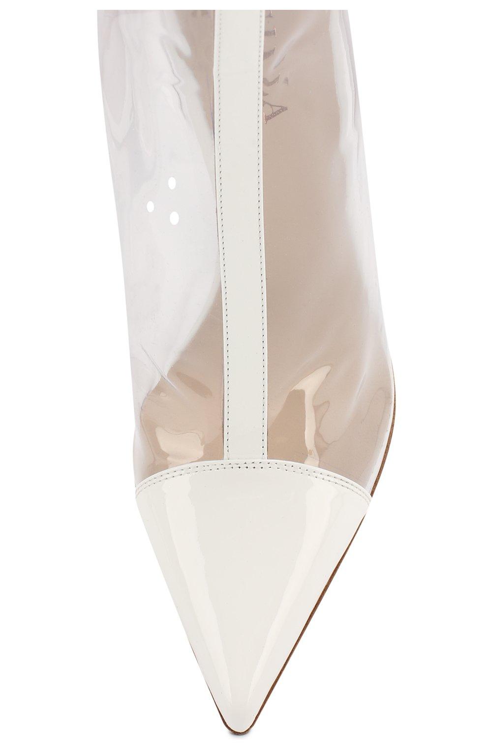Прозрачные ботильоны Fergie Le Silla белые | Фото №5