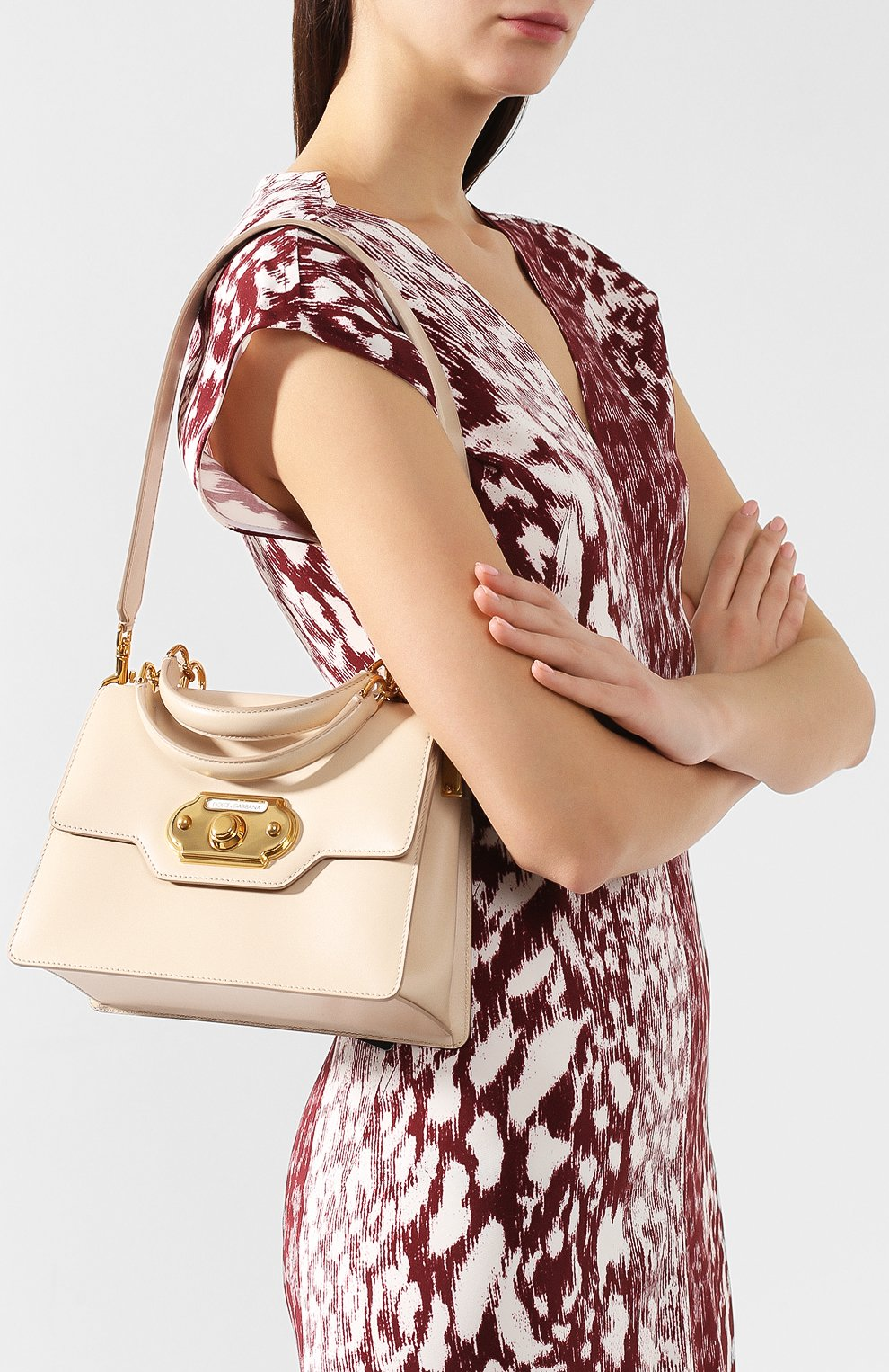 Сумка Welcome Dolce & Gabbana  светло-бежевая цвета | Фото №5