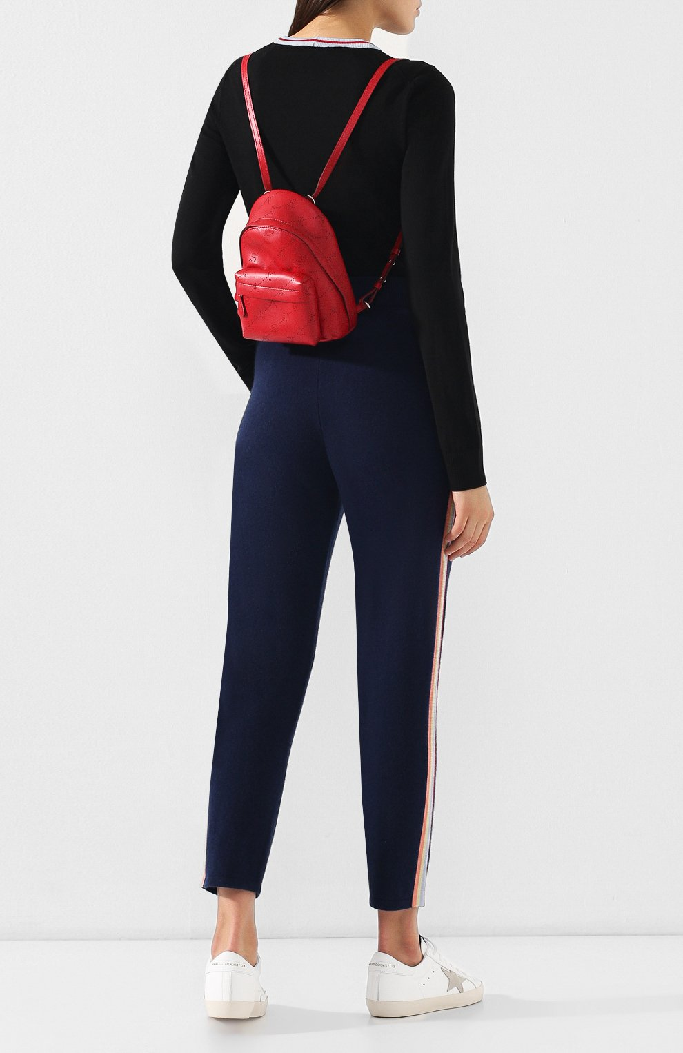 Рюкзак Monogram mini  Stella McCartney красный | Фото №2