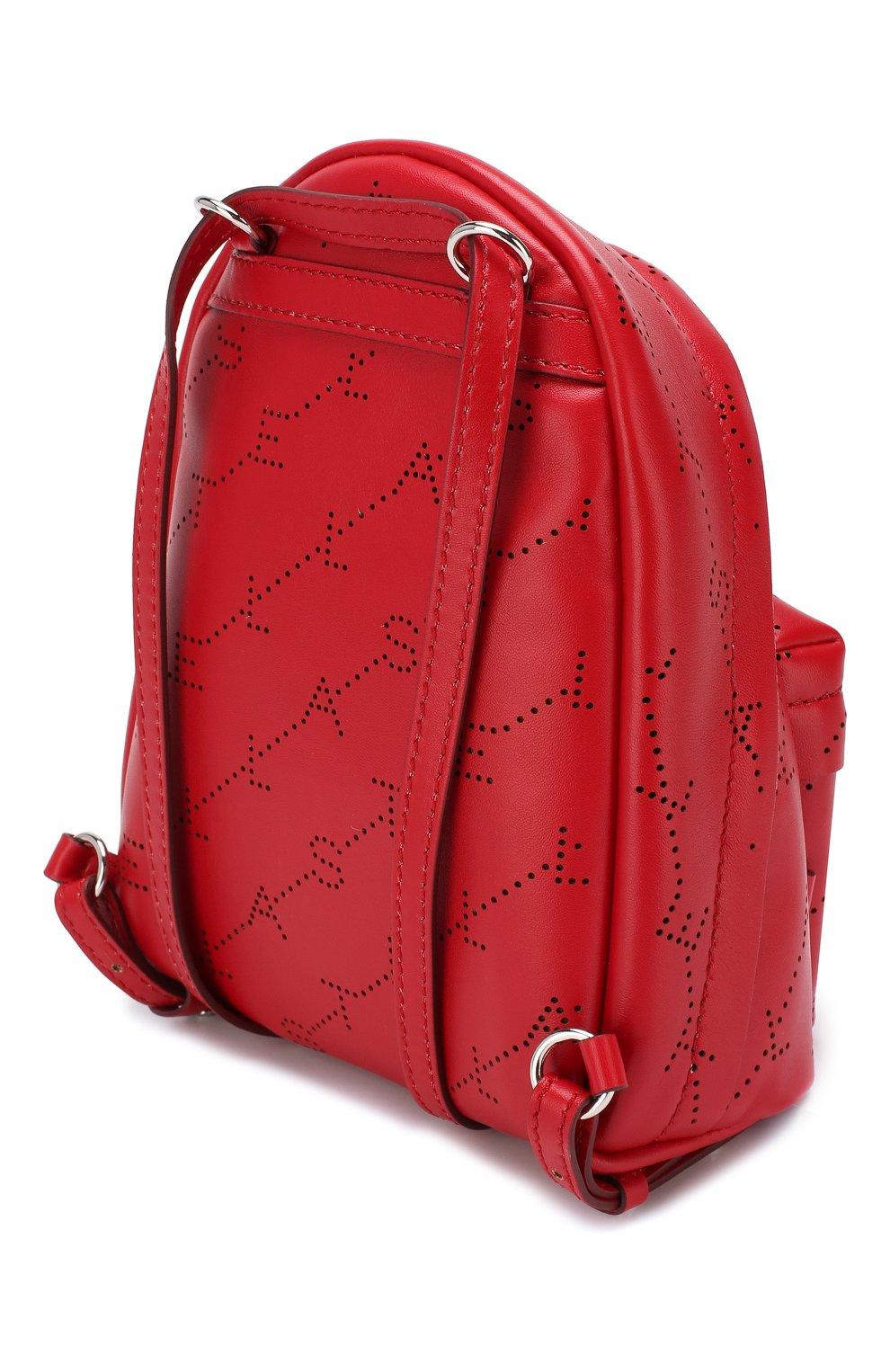 Рюкзак Monogram mini  Stella McCartney красный | Фото №3