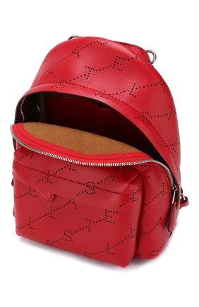 Рюкзак Monogram mini  Stella McCartney красный | Фото №4