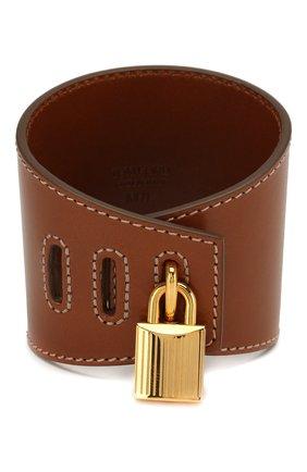 Кожаный браслет Padlock | Фото №1