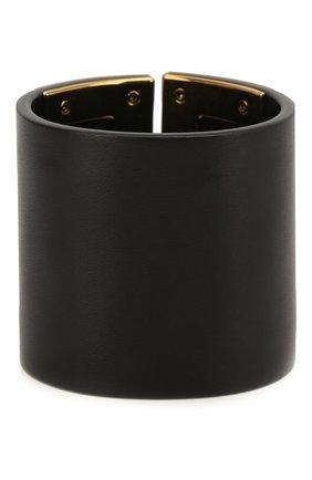 Женский кожаный браслет-кафф TOM FORD черного цвета, арт. JW0810-VAXBR | Фото 2
