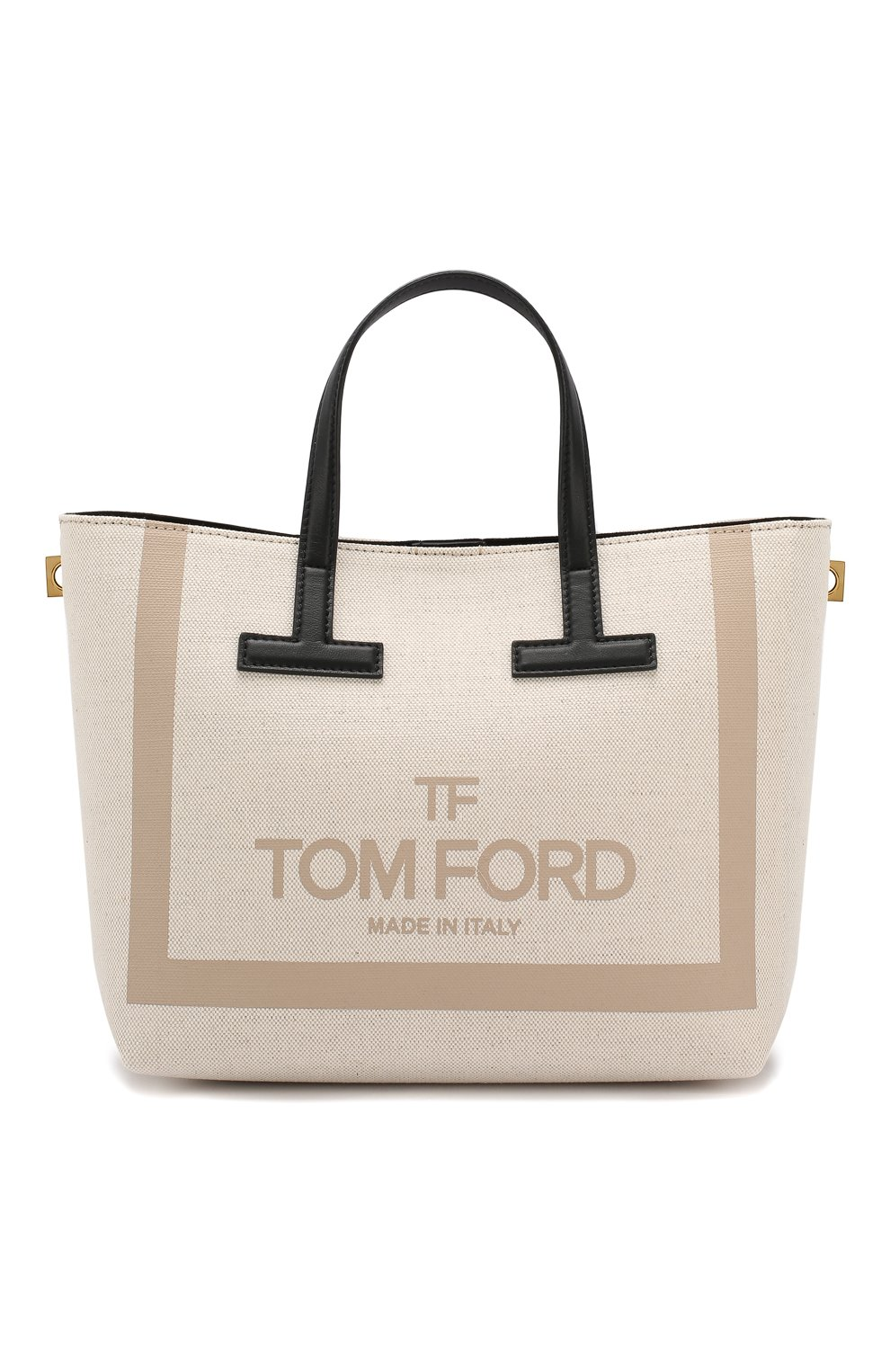 Сумка T Tote mini Tom Ford кремовая цвета | Фото №1