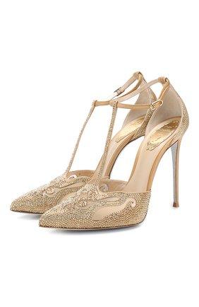 Комбинированные туфли Bella | Фото №1