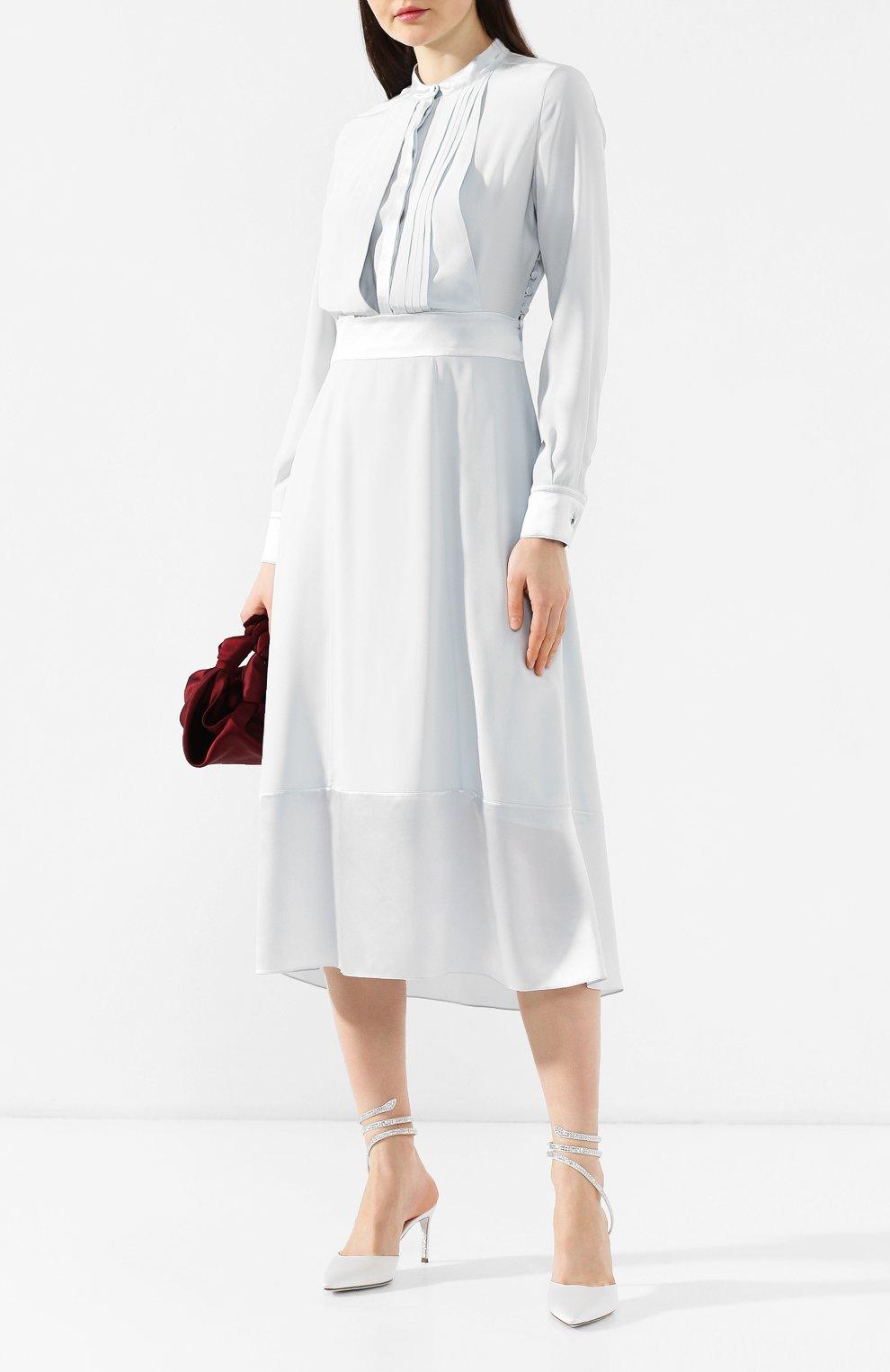 Текстильные туфли Cleo Rene Caovilla белые | Фото №2