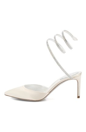 Текстильные туфли Cleo Rene Caovilla белые | Фото №3