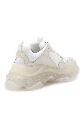 Комбинированные кроссовки Triple S Balenciaga белые   Фото №4