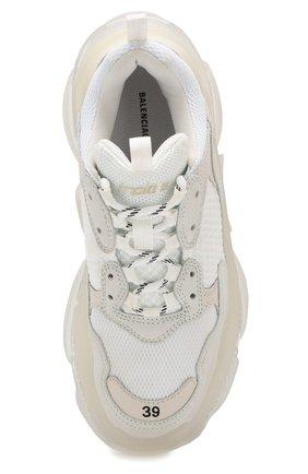 Комбинированные кроссовки Triple S Balenciaga белые   Фото №5
