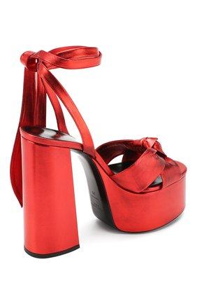 Кожаные босоножки Paige Saint Laurent красные | Фото №4