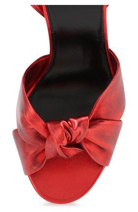 Кожаные босоножки Paige Saint Laurent красные   Фото №5