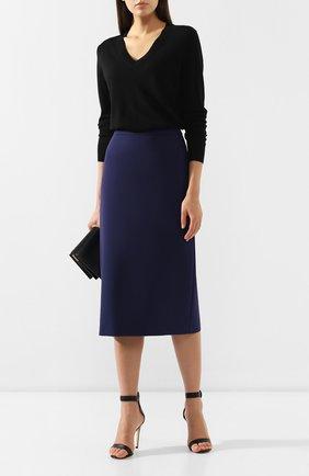 Женская юбка-карандаш BOSS синего цвета, арт. 50400538 | Фото 2