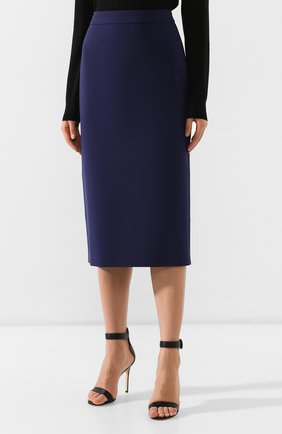Женская юбка-карандаш BOSS синего цвета, арт. 50400538 | Фото 3