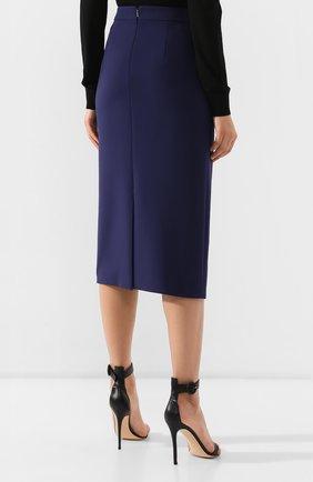 Женская юбка-карандаш BOSS синего цвета, арт. 50400538 | Фото 4