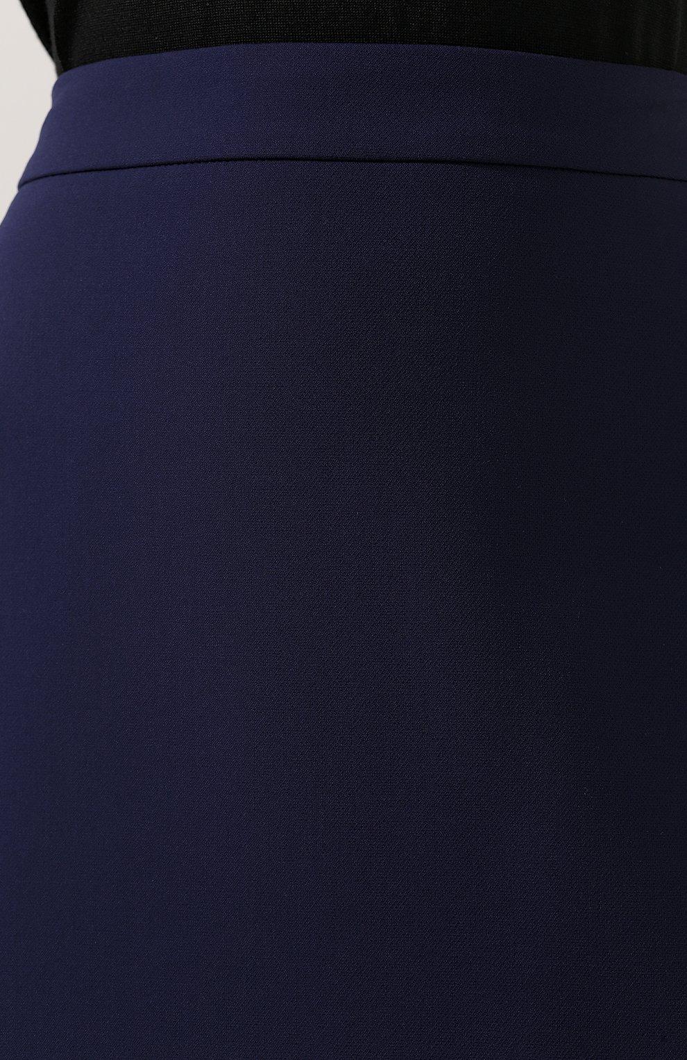 Женская юбка-карандаш BOSS синего цвета, арт. 50400538 | Фото 5