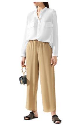 Женская шелковая блузка STELLA MCCARTNEY белого цвета, арт. 531899/SY206 | Фото 2