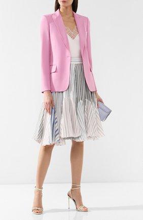 Шерстяной жакет Stella McCartney розовый   Фото №2