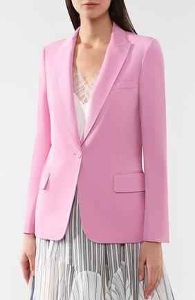 Шерстяной жакет Stella McCartney розовый   Фото №3