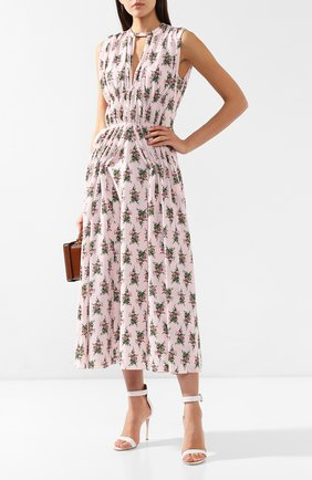 Платье с принтом Emilia Wickstead розовое   Фото №2