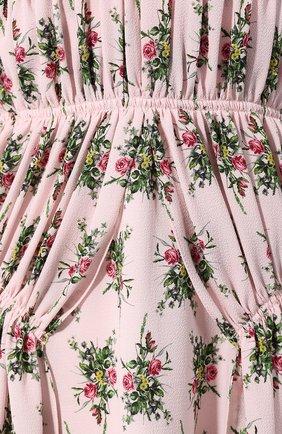 Платье с принтом Emilia Wickstead розовое   Фото №5