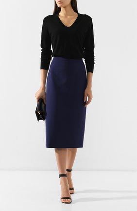 Женская шерстяной пуловер THEORY черного цвета, арт. I1211708 | Фото 2