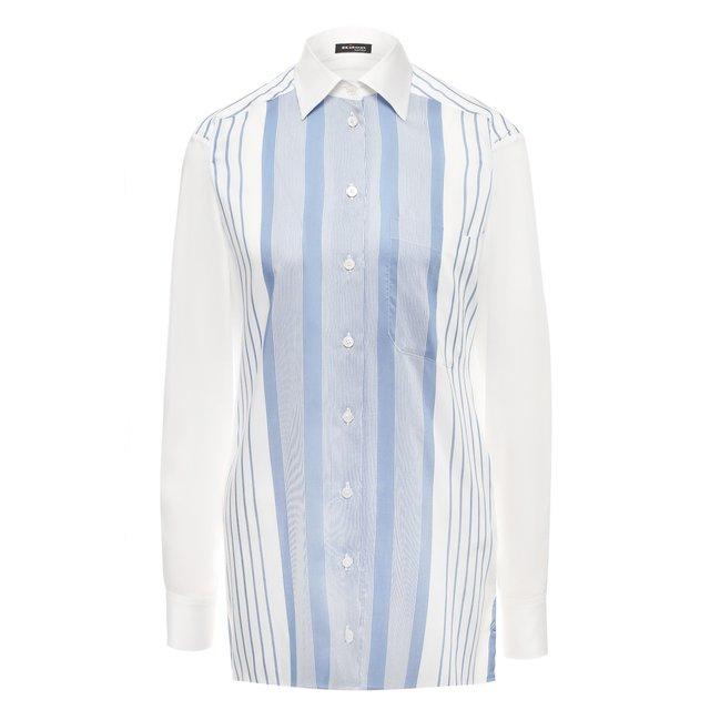 Рубашка из смеси вискозы и шелка Kiton