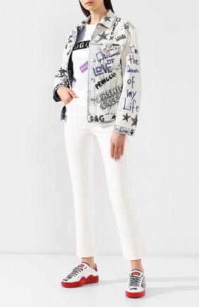 Женская джинсовая куртка DOLCE & GABBANA разноцветного цвета, арт. F9E49Z/G8AR3 | Фото 2