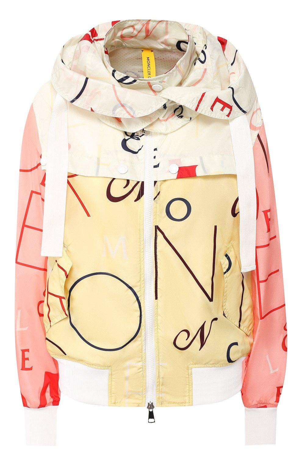 48ea2912415 Женская разноцветная куртка с капюшоном MONCLER — купить за 107500 ...