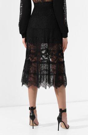 Женская юбка с кружевной отделкой MCQ SWALLOW черного цвета, арт. 545651/RMJ34   Фото 4 (Материал внешний: Синтетический материал; Длина Ж (юбки, платья, шорты): Миди; Статус проверки: Проверено, Проверена категория)