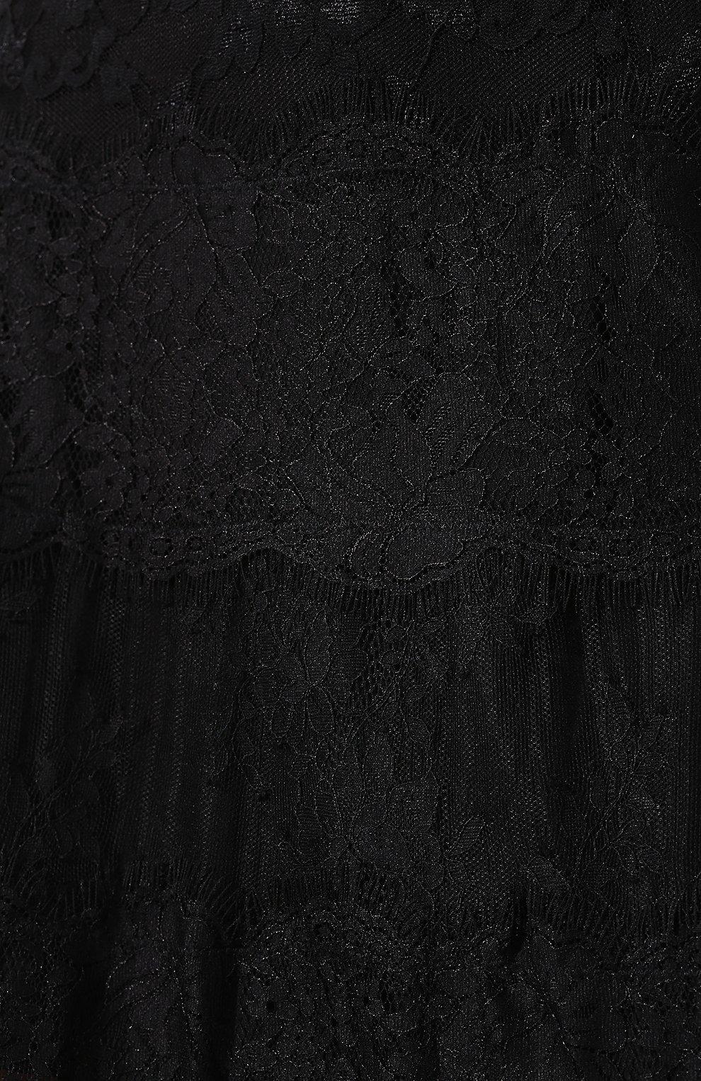 Женская юбка с кружевной отделкой MCQ SWALLOW черного цвета, арт. 545651/RMJ34   Фото 5 (Материал внешний: Синтетический материал; Длина Ж (юбки, платья, шорты): Миди; Статус проверки: Проверено, Проверена категория)
