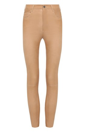 Кожаные брюки с карманами | Фото №1
