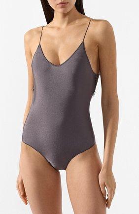 Женский слитный купальник OSEREE серого цвета, арт. TIS601/MAILL0T LYCRA/PIZZ0 | Фото 2