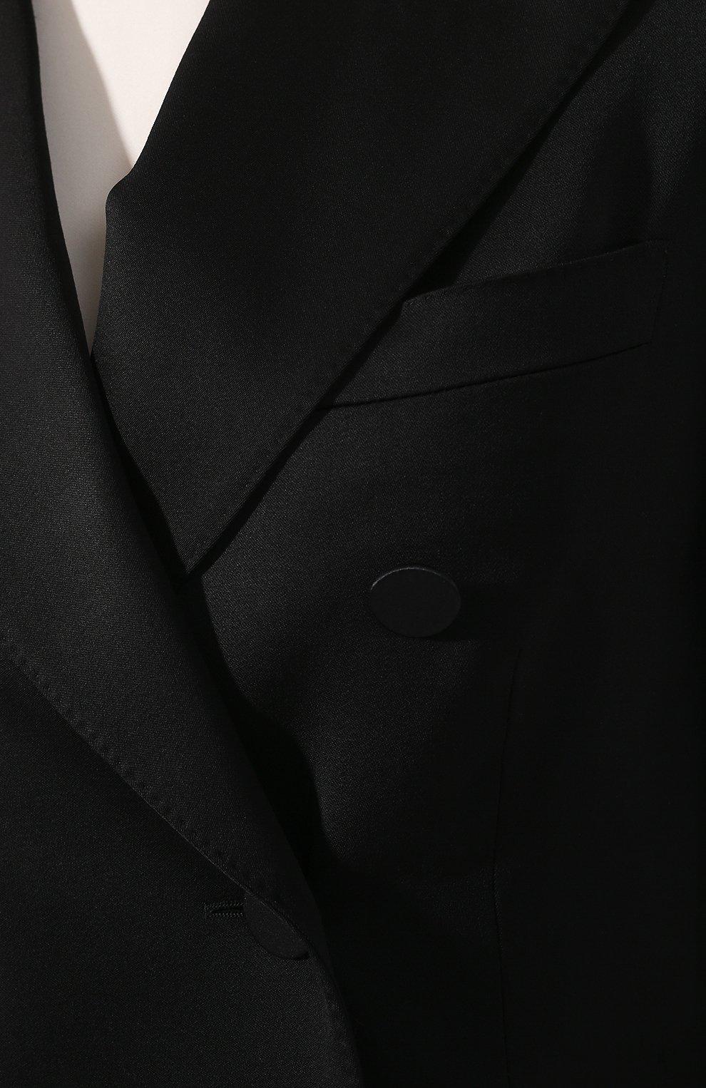Шерстяной жакет Burberry черный   Фото №5