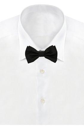 Мужской комплект из шелкового галстука-бабочки и камербанда BOSS черного цвета, арт. 50307920   Фото 2