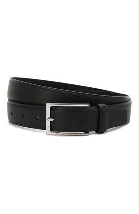 Мужской кожаный ремень BOSS черного цвета, арт. 50408103 | Фото 1