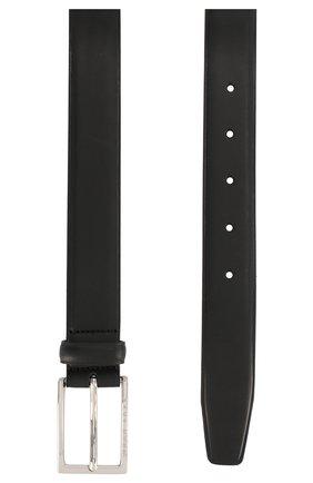 Мужской кожаный ремень BOSS черного цвета, арт. 50408103 | Фото 2