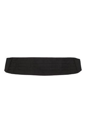 Мужской шелковый камербанд ZILLI черного цвета, арт. 50001/CUMMERBUND | Фото 1