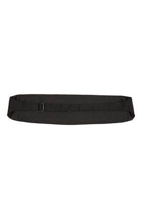 Мужской шелковый камербанд ZILLI черного цвета, арт. 50001/CUMMERBUND | Фото 2