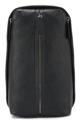 Кожаный рюкзак на одно плечо   Фото №1