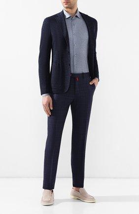 Мужская хлопковая рубашка с воротником кент ZILLI серого цвета, арт. MFR-56014-MERCU/RJ03 | Фото 2
