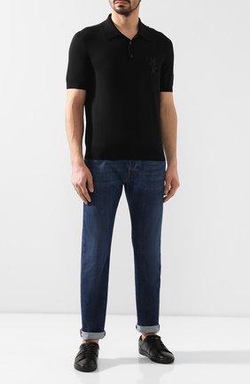 Мужское поло из смеси шерсти и хлопка BILLIONAIRE черного цвета, арт. B19C MKK0107 BKN006E | Фото 2