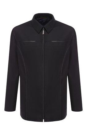 Шерстяная куртка с отделкой из кожи | Фото №1