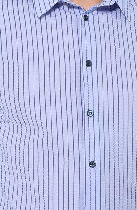 Мужская хлопковая рубашка с воротником кент GIORGIO ARMANI синего цвета, арт. 8WGCCZ97/TZ228 | Фото 5