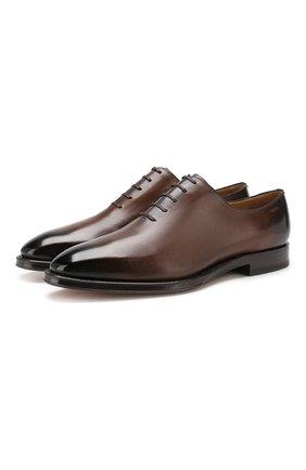 Мужские кожаные оксфорды BALLY темно-коричневого цвета, арт. SC0LDER/22 | Фото 1