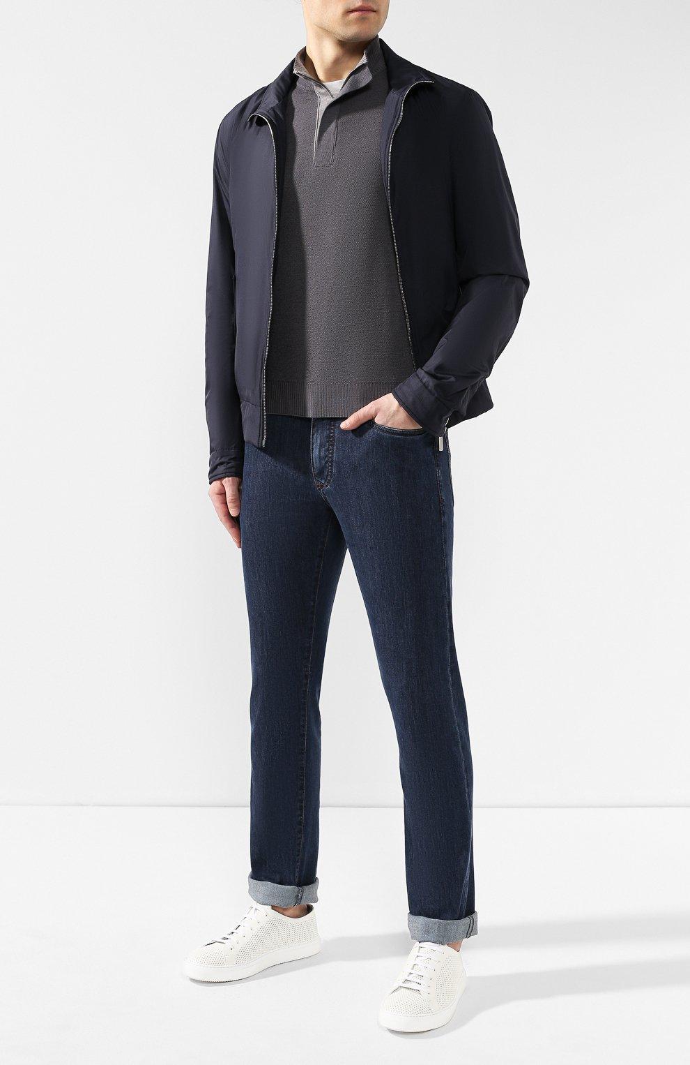 Мужские джинсы CANALI темно-синего цвета, арт. 91711HR/PD00018 | Фото 2