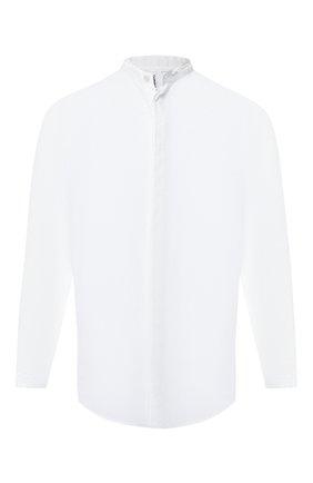 Хлопковая рубашка с воротником мандарин | Фото №1